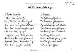grammar exercises circle correct verb have got u11