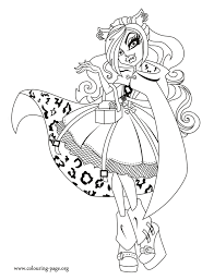 monster high clawdeen wolf a student at monster high coloring page