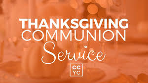 thanksgiving communion service