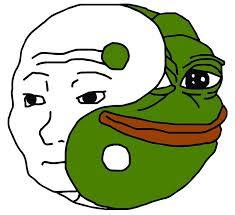 Pepe Meme - yin yang pepe meme art prints by dipardiou redbubble
