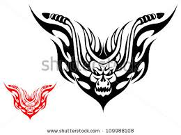 tribal biker motorcycle tattoo fire flames stock vector 109988108