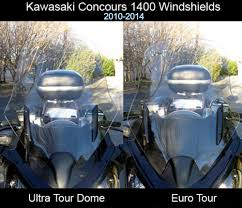 kawasaki gtr 1400 2015 up motorcycle windshield delete factory