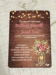 wedding invitations reviews flower jar string lights rustic invitations ewi416 as