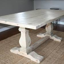 How To Build A Trestle Table Dining And Kitchen Tables Farmhouse Industrial Modern