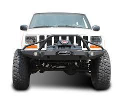 prerunner jeep jeep xj winch bumper vanguard prerunner cherokee 84 01