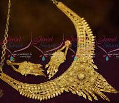 gold jewelry designs necklace images Nl10693 broad traditional finish short necklace low price JPG
