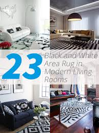 Area Rugs White 23 Modern Living Rooms Adorned With Black And White Area Rugs
