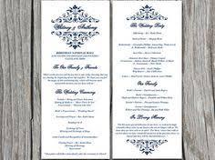 winter wedding program template download winter wonderland