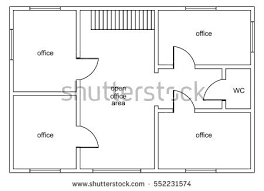 Floor Plan Of Office Building Abstract Vector Plan Office Building Four Stock Vector 552231574