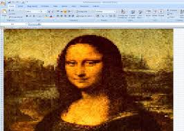 Mona by 10 Incredible Works Of Art Made In Microsoft Excel