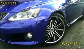 isf lexus blue is savini wheels