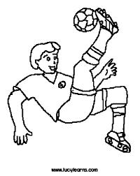 kicking football soccer coloring pages soccer ball kick 4