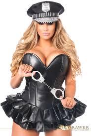 female cop halloween costume female police officer corset skirt costume