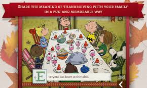 what is the story of thanksgiving a charlie brown thanksgiving peanuts read u0026 play android apps