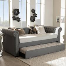 Twin Size Day Bed by Baxton Studio Vera Contemporary White Faux Leather Upholstered