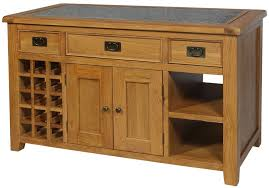 oak kitchen island with granite top buy lyon oak kitchen island with granite top cfs uk