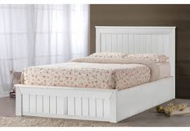 Ottoman White Bed White Wooden Ottoman Bed Bonners Furniture