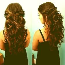 prom hairstyles half up half down curly 19093 half up half down