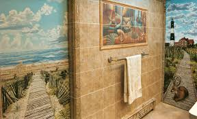 Lighthouse Bathroom Accessories 25 Wonderful Ideas And Pictures Ceramic Tile Murals For Bathroom