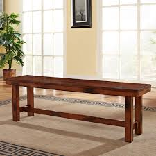 walker edison furniture company huntsman dark oak bench hdbh1do