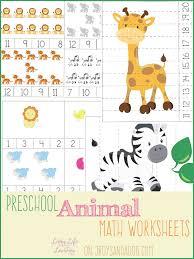 free prek animal themed math worksheets free homeschool deals