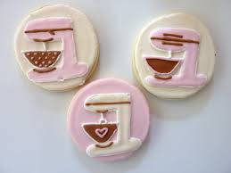 the happy caker kitchen themed bridal shower cookies