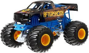 monster jam diecast trucks amazon com wheels monster jam aftershock die cast vehicle 1