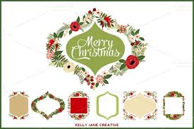 christmas wreath clipart for decorating your blog creating