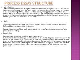 process essay thesis statement process how to chronological order essay ppt download