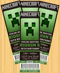 minecraft birthday invitations exciting minecraft birthday party invitations as birthday invitation