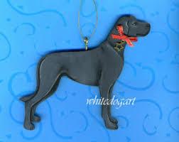 handpainted black great dane ornament
