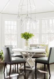 bay window dining table cottage dining room urban grace