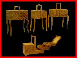 meuble design vintage meubles de couturieres travailleuses boites à couture vintage