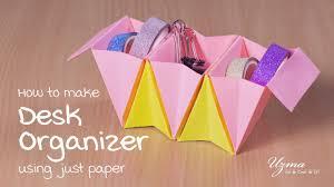 Origami Desk Organizer Diy Desk Organizer Accordion Box Simple Easy To Make