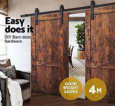 How To Install Barn Door Hardware by 4m Sliding Barn Door Hardware Track Set Home Office Bedroom