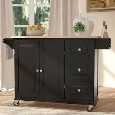 black kitchen island table black kitchen islands carts you ll wayfair
