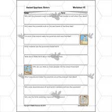 ancient egyptians the pyramids planbee single lesson