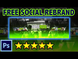 free social media rebrand youtube banner twitter cover photoshop