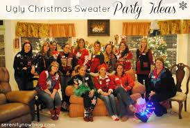Ugly Christmas Sweater Party Decoration Ideas by Serenity Now Ugly Christmas Sweater Party Girls U0027 Night Out