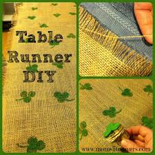 st patrick s day table runner easy burlap table runner st patrick s day mom s lifesavers