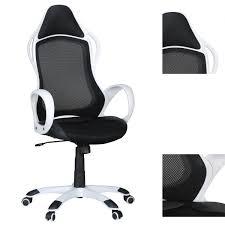 Schreibtischstuhl Bürostuhl Makar Schwarz Weiß Schreibtischstuhl Drehstuhl
