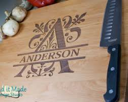 monogramed cutting boards personalized cutting boards custom wood cutting by haditmade