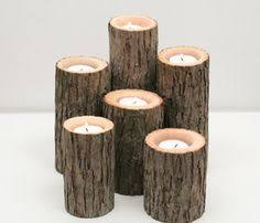 Tree Branch Candle Holder Items Similar To 5 Tea Light Wood Branch Tree Slice Candle