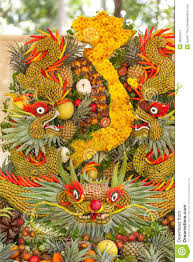 New Year Fruit Decorations by Some Artworks Of Vietnam Artistic Fruit Carving Decoration