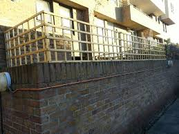 Badminton Trellis Supply And Fit Trellis Fencing To Top Of Brick Wall Fencing Job