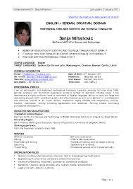 Work Experience Resume Examples Experience Resume Template Jospar