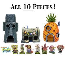spongebob fish aquarium ornament all 10 pieces character