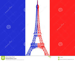 Frwnch Flag French Flag And Eiffel Tower Stock Illustration Illustration