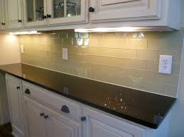 glass tile backsplashes subwaytileoutlet modern kitchen within