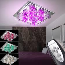 Wohnzimmerlampe Bunt Led Decken Lampe Farbwechsler Rgb Mit Fernbedienung Kronleuchter